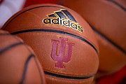 BLOOMINGTON, IN - DECEMBER 19: An Indiana Hoosiers basketball is seen before the game against the Central Arkansas Bears at Assembly Hall on December 19, 2018 in Bloomington, Indiana. (Photo by Michael Hickey/Getty Images)