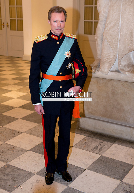 15-4-2015 - COPENHAGEN - Henri, Grand Duke of Luxembourg  at the Christiansborg Palace for a diner  , attent the 75 th Birthday celebration of of Queen Margrethe II . COPYRIGHT ROBIN UTRECHT