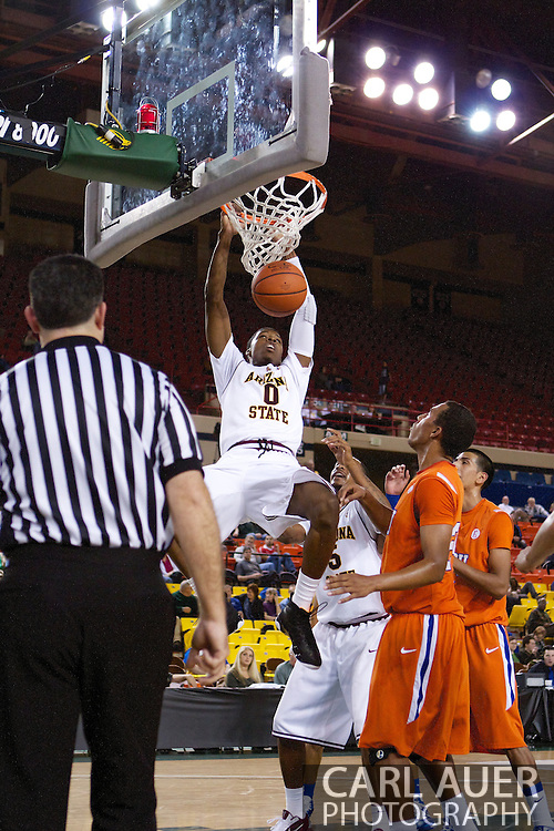 November 25th, 2010:  Anchorage, Alaska - Arizona State forward, Carrick Felix (0) dunks in the Sun Devils 73-55 win over Houston Baptist in their first round game of the Great Alaska Shootout.