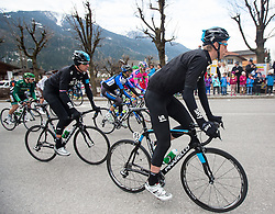 17.04.2013, Hauptplatz, Sillian, AUT, Giro del Trentino, Etappe 2, Sillian nach Bozen, im Bild Bradley Wiggins (Team Sky Procycling) // during the 2nd stage, Sillian to Bolzano of the Giro del Trentino at the Hauptplatz, Lienz, Austria on 2013/04/17. EXPA Pictures © 2013, PhotoCredit: EXPA/ Johann Groder