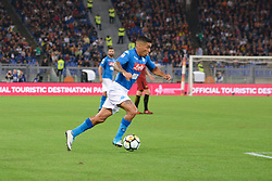 October 14, 2017 - Rome, Italy - Marques Allan during the Italian Serie A football match between A.S. Roma and S.S.C. Napoli at the Olympic Stadium in Rome, on october 14, 2017. (Credit Image: © Silvia Lor/Pacific Press via ZUMA Wire)