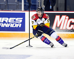 Connor McDavid of the Erie Otters in the Skills Combine at the 2015 BMO CHL Top Prospects Game in St. Catharines, ON on Wednesday Jan. 21, 2015. Photo by Aaron Bell/CHL Images