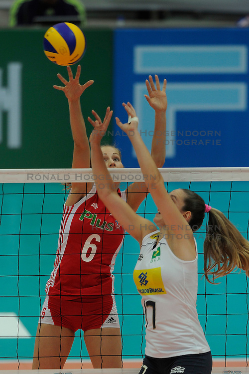 26-08-2010 VOLLEYBAL: WGP FINAL POLAND - BRAZIL: BEILUN NINGBO<br /> Brazil beat Poland 3-1 / Agnieszka Bednarek-Kasza<br /> &copy;2010-WWW.FOTOHOOGENDOORN.NL