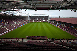 Tynecastle Stadium, home of Heart of Midlothian FC.<br /> &copy;Michael Schofield.