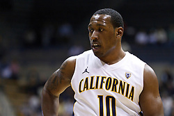 November 16, 2010; Berkeley, CA, USA;  California Golden Bears center Markhuri Sanders-Frison (10) before shooting a free throw against the Cal State Northridge Matadors during the first half at Haas Pavilion.  California defeated Cal State Northridge 80-63.