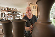 Traditional pottery craft workshop in Kaszebe region in northern Poland owned by Necel family for generations photography Piotr Gesicki