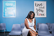 Angela Dunn poses for a portrait at Weight Watchers in College Station, Texas on September 8, 2016.  (Cooper Neill for The New York Times)