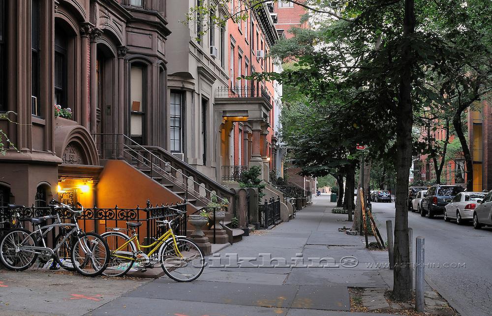 Empty street of Brooklyn, NYC