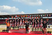 Pricegiving Team Test 1. Germany, 2. Netherlands, 3. England<br /> FEI European Championships 2013<br /> © DigiShots