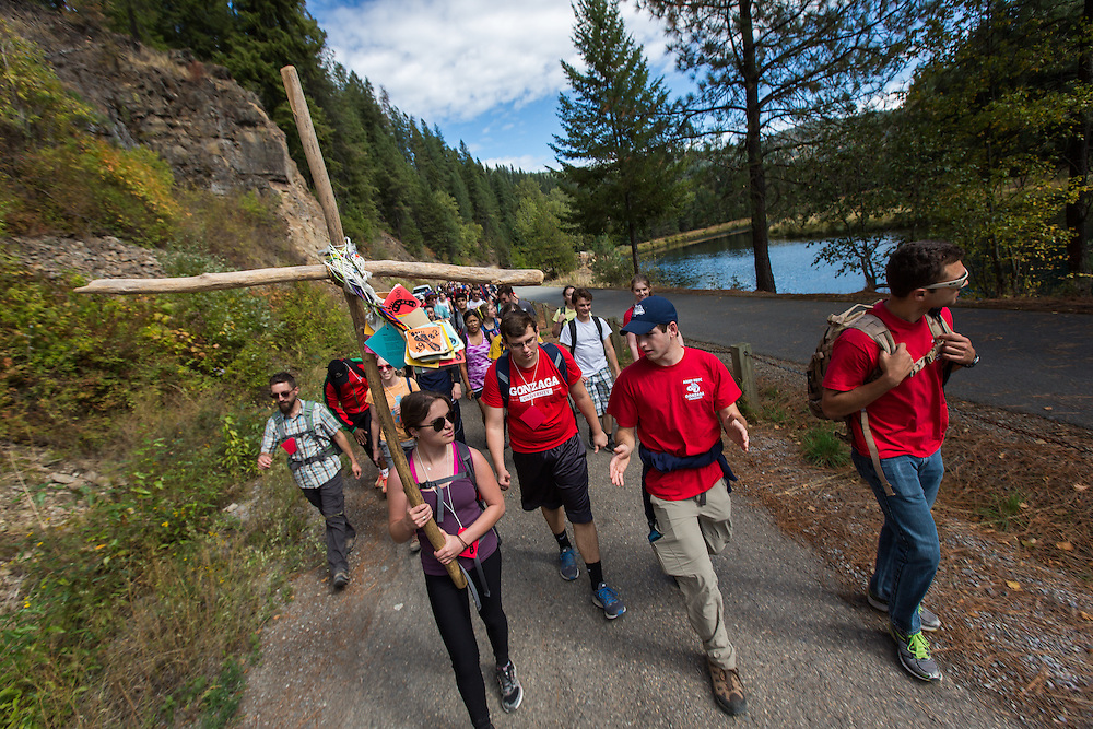 Gonzaga Students and members of the Gonzaga community came together for the 46th annual Pilgrimage retreat on September 19, 2015. (Photo by Ryan Sullivan)