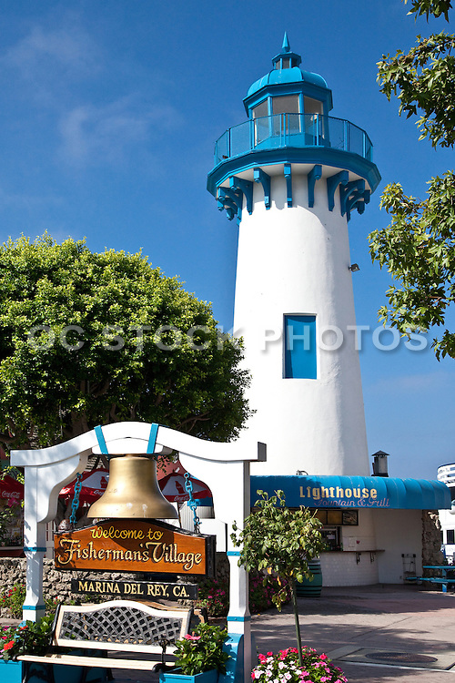 The Lighthouse At Fisherman's Village At Marina Del Rey California
