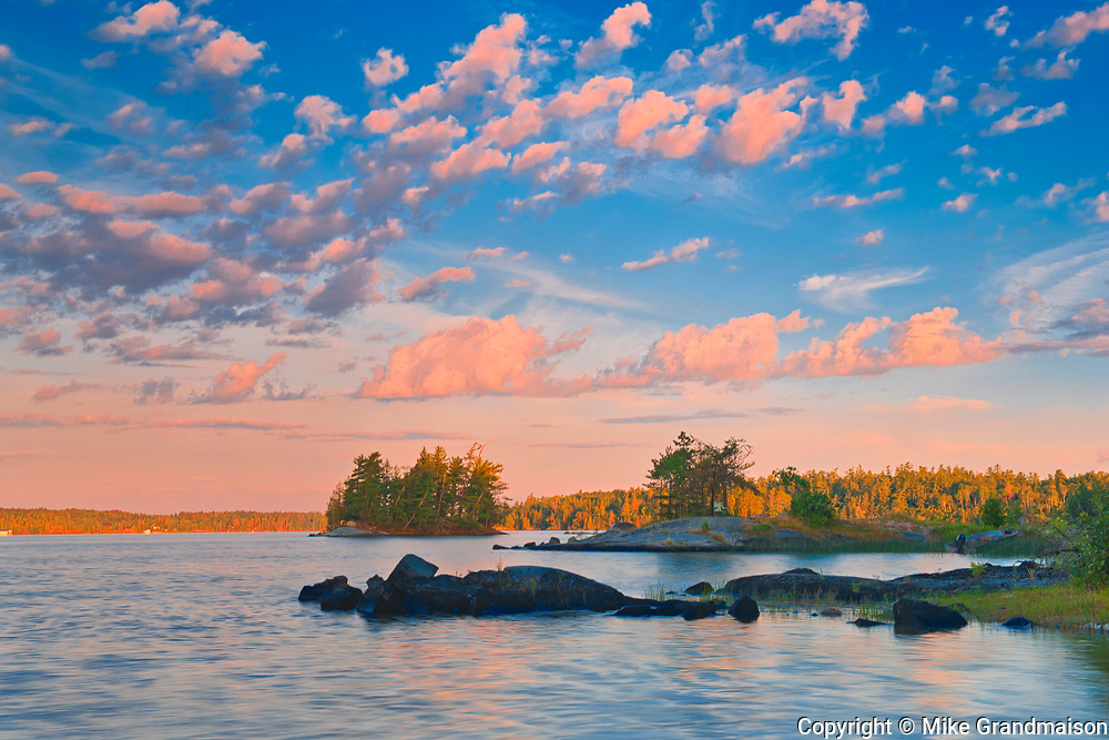 Clouds at sunrise on Lake of the Woods<br />Sioux Narrows Provincial PArk<br />Ontario<br />Canada