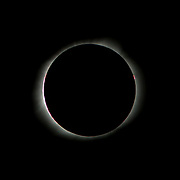 Solar Eclipse, Totality, August 21, 2017, Bailey's Beads effect.