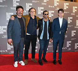 Glasgow Film Festival 2019<br /> <br /> The UK Premiere of The Vanishing<br /> <br /> Pictured: L-R Mickey Gooch Jr, Kristoffer Nyholm, Maurice Fadida, Connor Swindells<br /> <br /> (c) Aimee Todd | Edinburgh Elite media
