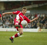Photo: Aidan Ellis.<br /> Grimsby Town v Swindon Town. Coca Cola League 2. 17/03/2007.<br /> swindon's Michael Pook has the only shot of the first half