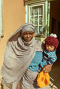 NIGER,, young refugee women in an protected house by UNHCR