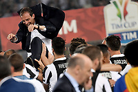 Massimiliano Allegri, Juventus coach, victory celebrations.<br /> Roma 09-05-2018  Stadio Olimpico  <br /> Football Calcio Finale Coppa Italia / Italy's Cup Final 2017/2018 Juventus - Milan<br /> Foto Antonietta Baldassarre / Insidefoto