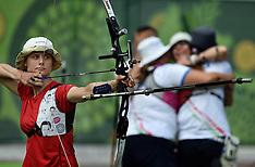 20150618 Baku 2015 European Games - Bueskydning - Damer Team