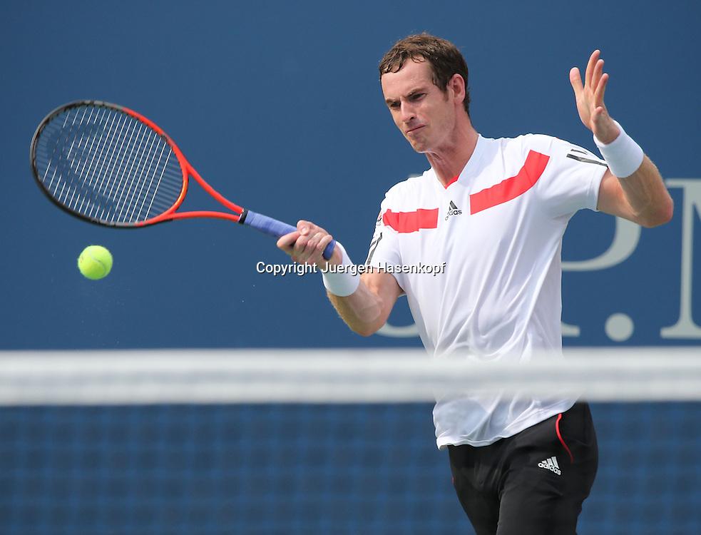 US Open 2013, USTA Billie Jean King National Tennis Center, Flushing Meadows, New York,<br /> ITF Grand Slam Tennis Tournament .<br /> Andy Murray (GBR),Aktion,Einzelbild,<br /> Halbkoerper,Querformat