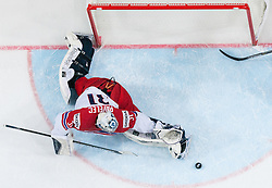 Ondrej Pavelec of Czech Republic in action during Ice Hockey match between Canada and Czech Republic at Semifinals of 2015 IIHF World Championship, on May 16, 2015 in O2 Arena, Prague, Czech Republic. Photo by Vid Ponikvar / Sportida