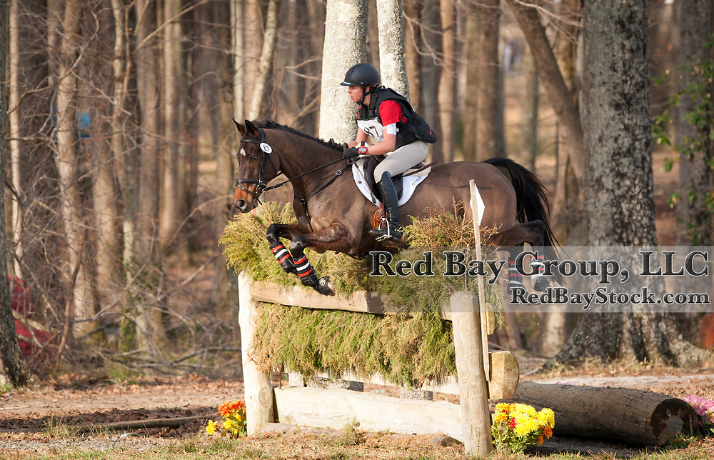 Lauren Clark (CAN) and Yoscha Bosche at the 2014 Pine Top Spring Advanced Horse Trials in Thomson, Georgia.