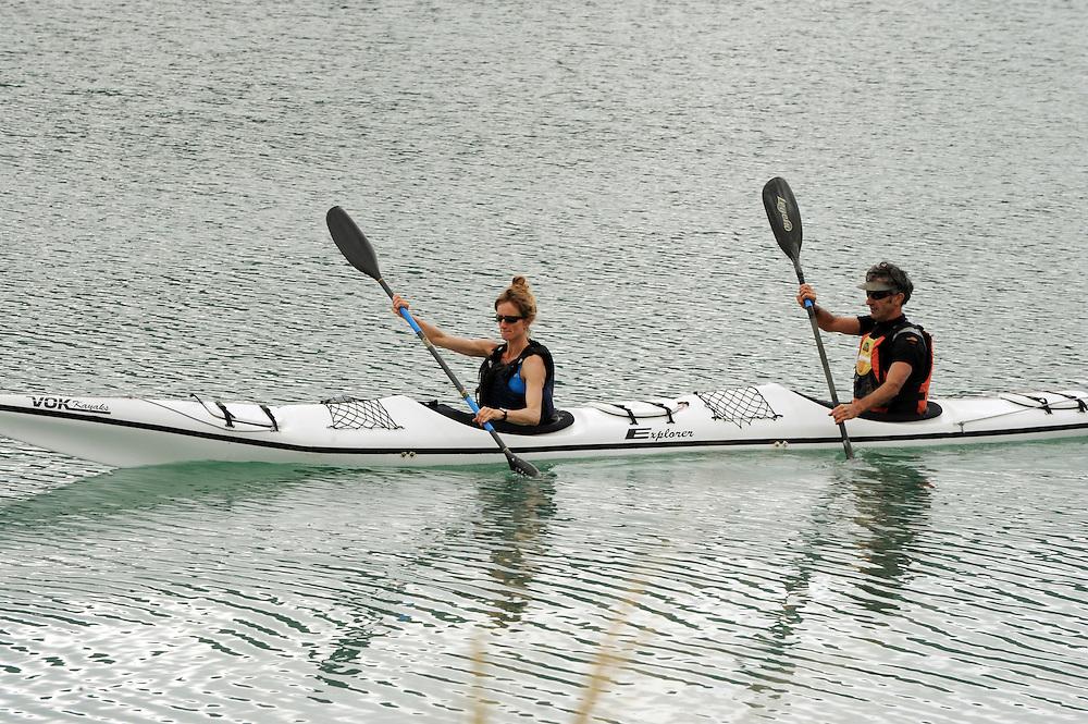 Kayakers, Marina, Nelson, New Zealand, Saturday, November 07, 2015. Credit:SNPA / Ross Setford