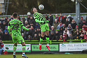 Forest Green Rovers Aaron Collins(10) controls the ball during the EFL Sky Bet League 2 match between Forest Green Rovers and Walsall at the New Lawn, Forest Green, United Kingdom on 8 February 2020.