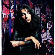 Photo by Joshua Trujillo..Musician Alice Cooper poses for a portrait in the basement of his Phoenix, Arizona restraunt, Alice Cooperstown, on April 4 2001..