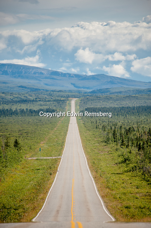 Scenic view of Richardson Highway in Delta Junction, Alaska