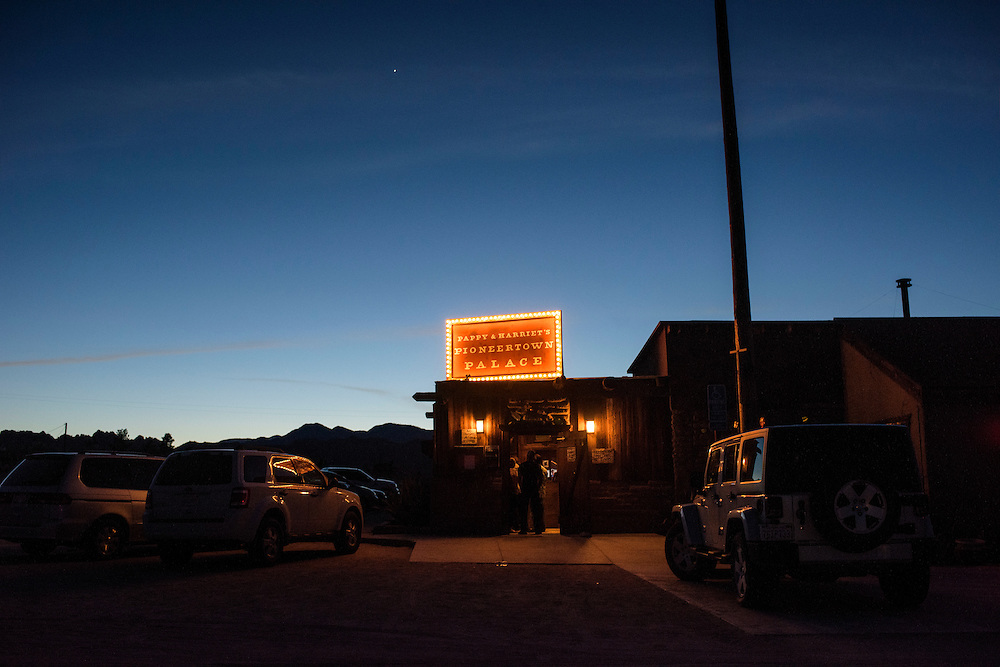 Pioneertown, California - March 13, 2015: Pappy &amp; Harriet's Pioneer Palace<br /> CREDIT: Matt Roth