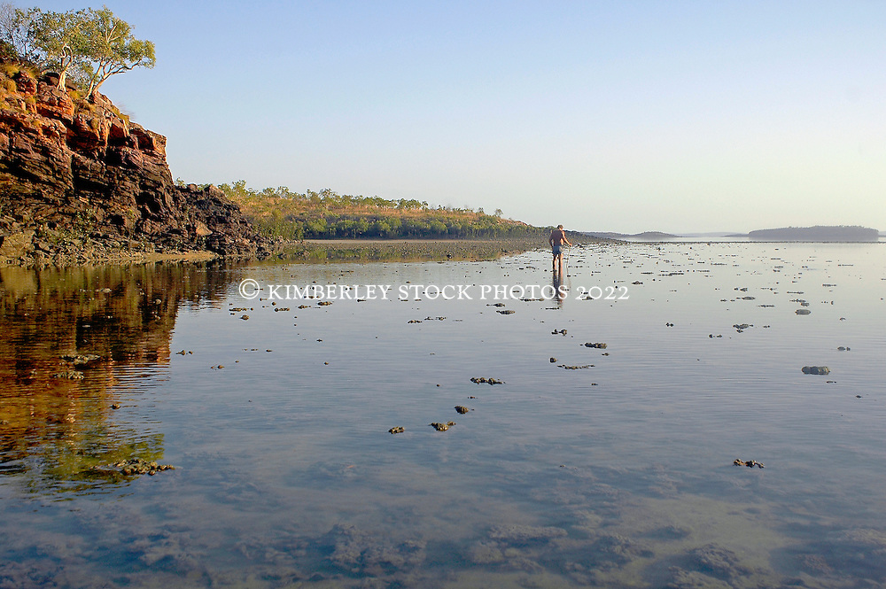 A shallow, fringing reef in Yampi Sound on the Kimberley coast.