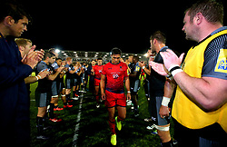 Jackson Willison of Worcester Warriors cuts a dejected figure after defeat to Newcastle Falcons - Mandatory by-line: Robbie Stephenson/JMP - 01/09/2017 - RUGBY - Kingston Park - Newcastle upon Tyne, England - Newcastle Falcons v Worcester Warriors - Aviva Premiership