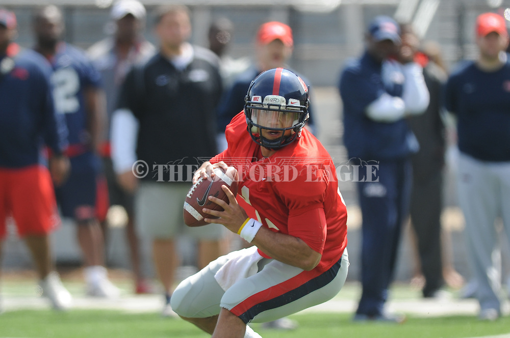 Barry Brunetti (11) at Ole Miss football scrimmage at Vaught-Hemingway Stadium in Oxford, Miss. on Saturday, April 6, 2013.