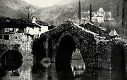 Alexander Keighley 1861 - 1947. British impressionist photographer. A Bridge, Montenegro, 1927
