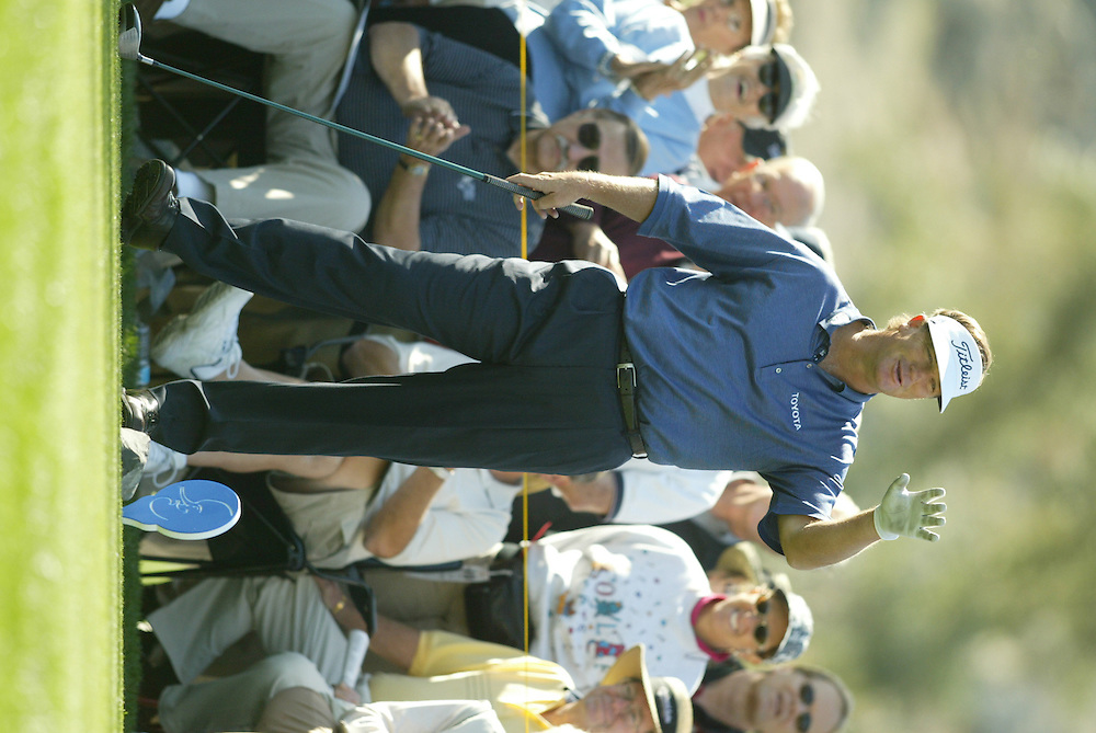 Peter Jacobsen..2004 Bob Hope Chrysler Classic.Third Round.Indian Wells CC.Friday, January 23 2004..Photograph by Darren Carroll .