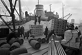 1963 - Loading M.V. Hardenberg at North Wall, Dublin