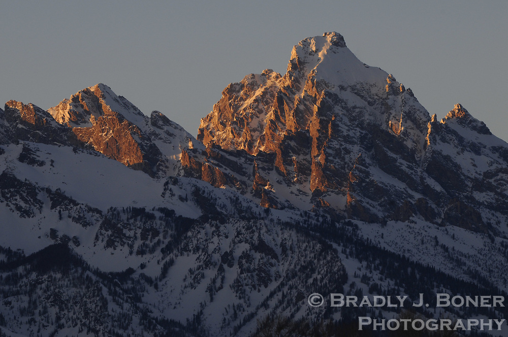 Grand Teton at sunset