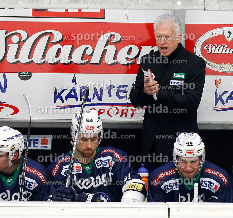 29.01.2016, Stadthalle, Villach, AUT, EBEL, EC VSV vs Moser Medical Graz 99ers, Qualifikationsrunde, im Bild Headcoach Greg Holst (VSV) // during the Erste Bank Icehockey League Qualification round match between EC VSV vs Moser Medical Graz 99ers at the City Hall in Villach, Austria on 2016/01/29, EXPA Pictures © 2016, PhotoCredit: EXPA/ Oskar Hoeher