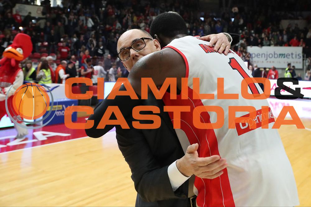 Attilio Caja O.D. Anosike<br /> Openjobmetis Pallacanestro Varese - Vanoli Cremona<br /> Lega Basket Serie A 2016/2017<br /> Varese 30/04/2017<br /> Foto Ciamillo-Castoria