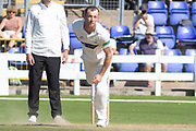 Graham Wagg bowling during the Specsavers County Champ Div 2 match between Glamorgan County Cricket Club and Leicestershire County Cricket Club at the SWALEC Stadium, Cardiff, United Kingdom on 17 September 2019.