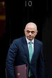 © Licensed to London News Pictures. 23/02/2016. London, UK.Secretary of State for Business, Innovation and Skills SAJID JAVID leaves number 10 Downing Street in Westminster, London after cabinet meeting. Photo credit: Ben Cawthra/LNP