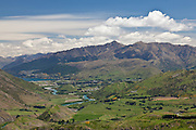 Queenstown, viewed from Crown Valley Pass, New Zealand