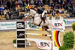 BORMANN Finja (GER), GREY CHESTER 2<br /> Neumünster - VR Classics 2020<br /> Voltaire Design Preis<br /> CSI-YH1* 1. Qualifikation zum Theurer Trucks Youngster-Cup<br /> International nach Strafpunkten & Zeit (1,35m) für 7-8-jähr.Pferde<br /> 14. Februar 2020<br /> © www.sportfotos-lafrentz.de/Stefan Lafrentz