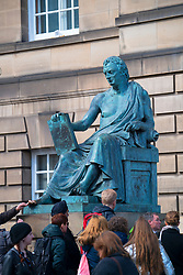 Statue of the philosopher David Hume in the Royal Mile, Edinburgh, Scotland, United Kingdom