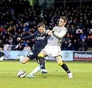 St Mirren's Jason Naismith can't stop Iain Davidson scoring Dundee's winner -  St Mirren v Dundee, SPFL Premiership at St Mirren Park <br /> <br /> <br />  - &copy; David Young - www.davidyoungphoto.co.uk - email: davidyoungphoto@gmail.com