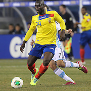 Segundo Castillo. Ecuador, in action during the Argentina Vs Ecuador International friendly football match at MetLife Stadium, New Jersey. USA. 15th November 2013. Photo Tim Clayton
