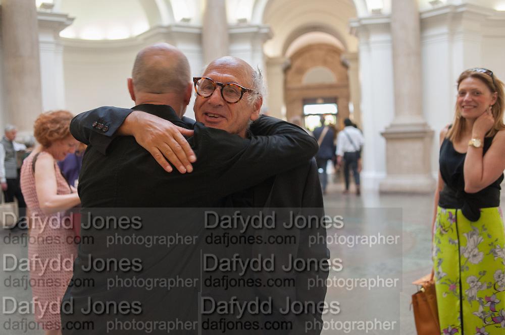 ANTONI MALINOWSKI; MICHAEL NYMAN; MIRIAM BLUNDELL,  Tate Summer party. Tate Britian, Millbank. London. 28 May 2012
