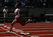05/23/2009 - Lincoln's Tiara Pittman (626) crosses the finish line to help her team win the 6A Girl's 4x100 Meter Relay. The 2009 OSAA/U.S. Bank/Les Schwab Tires 6A-5A-4A Track and Field State Championships were run at Hayward Field in Eugene, Oregon.....KEYWORDS:  City, Portland, sports, Oregon, high school, OSAA, boys, girls, PIL, run, University, team