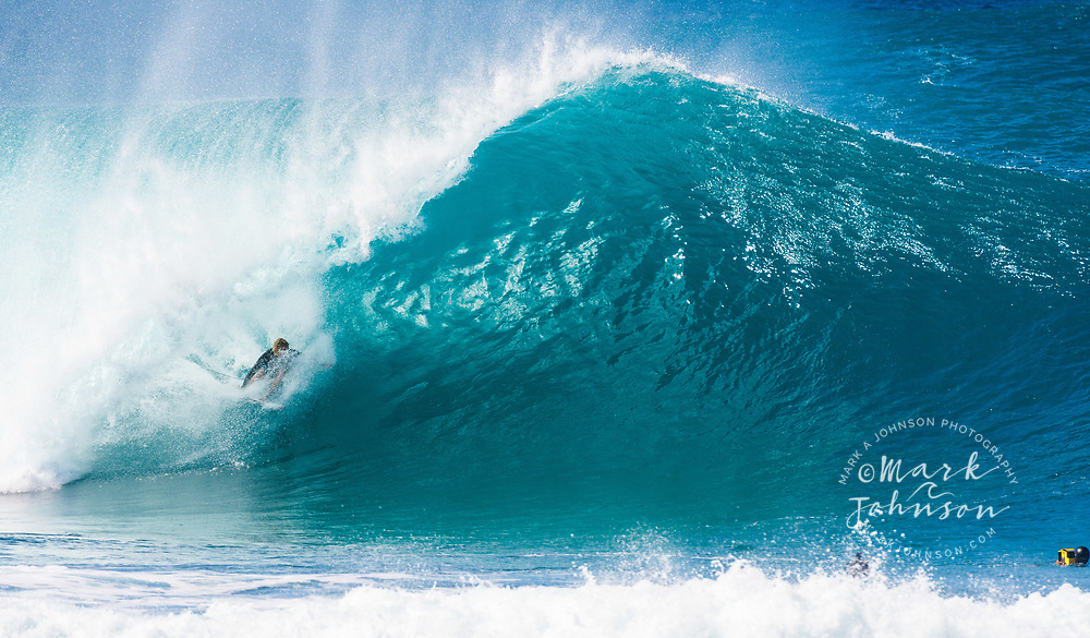 John John Florence, World Champion Professional Surfer at the Banzai Pipeline, North Shore, Oahu, Hawaii