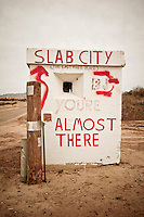 Slab City Road Sign, Imperial County, California